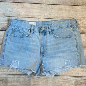 GAP Distressed Slim Shorts